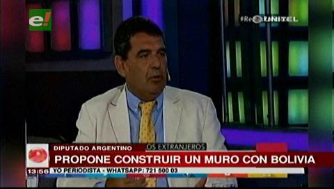 """""""El Trump argentino"""" propone construir un muro con Bolivia"""