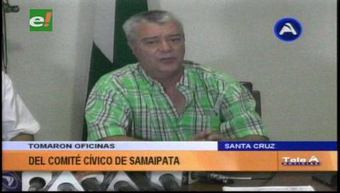 Conflicto en Samaipata por la toma del Comité Cívico