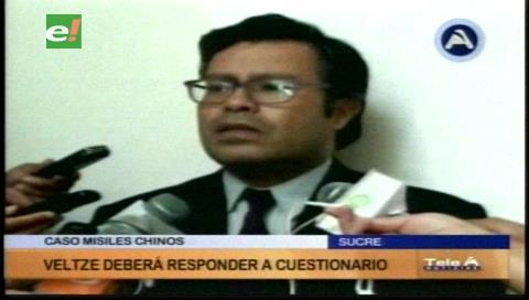 Rodriguez Veltzé deberá responder un cuestionario por caso misiles chinos