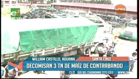 Aduana decomisa 6 camiones con maíz