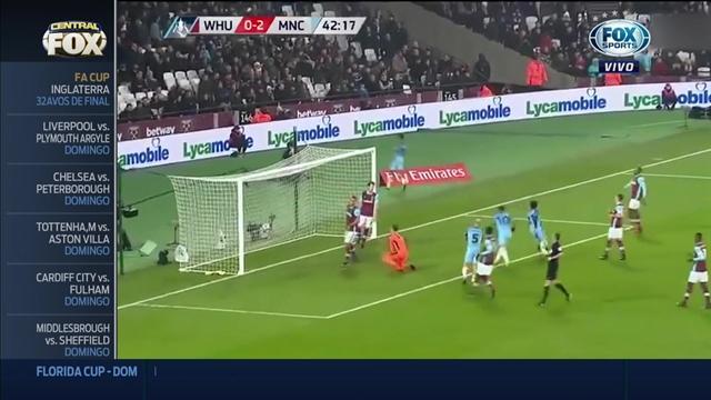 Manchester City aplastó al West Ham con un gol de Agüero