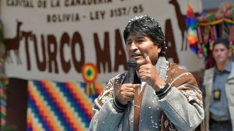 Morales hoy en el Municipio de Turco, Oruro.