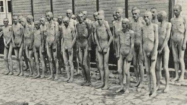 Prisioneros soviéticos en el campo de concentración de Mauthausan, Austria