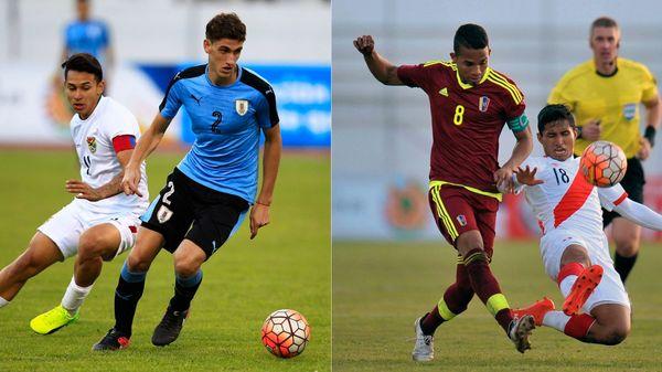 El uruguayo Santiago Bueno y el venezolano Yangel Herrera brillan en el Sudamericano Sub-20 (EFE-AFP)