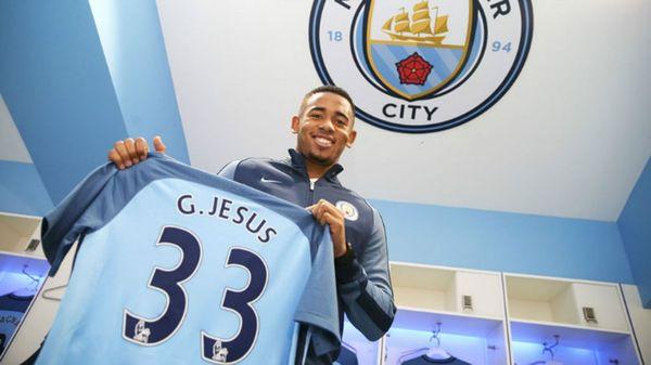 El brasileño Gabriel Jesús es el séptimo refuerzo de Pep Guardiola en el Manchester City