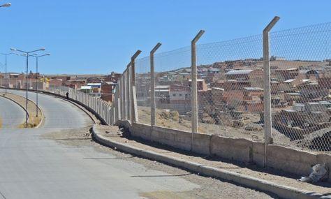 El enmallado que se emplazó en la frontera boliviano argentina para separar las localidades de Villazón y La Quiaca.
