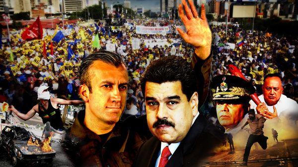 Tareck El Aissami, Nicolás Maduro, Vladimir Padrino y Diosdado Cabello
