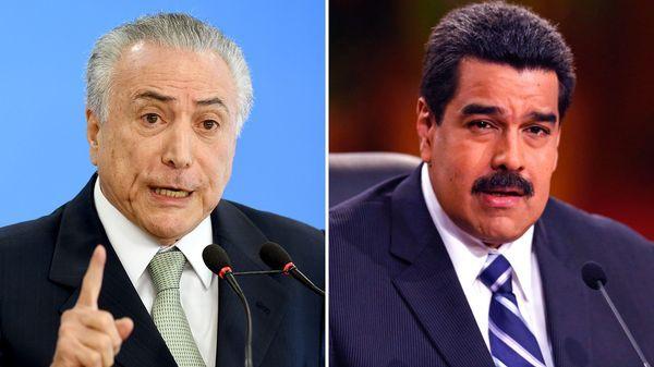 Michel Temer y Nicolás Maduro