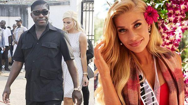 Teodorin Obiang y Christina Mikkelsen