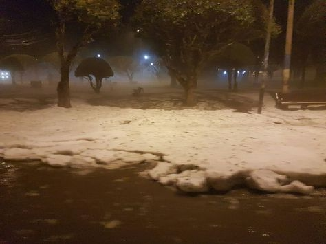 Así el granizo en Sucre. Foto: Demetrio Zurita