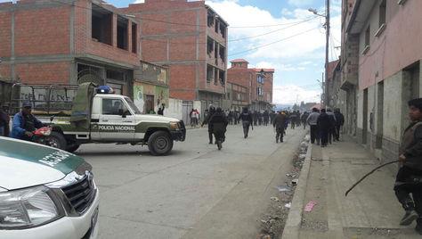 Imágenes del conflicto en Achacachi. Foto: Fabiola Furuya