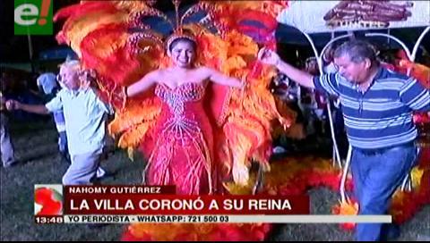 La Villa Primero de Mayo coronó a su reina del carnaval 2017