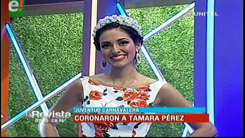 Juventud Carnavalera coronó a Tamara Pérez