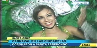 Sarita Arredondo es coronada reina de la ciudadela Andrés Ibáñez