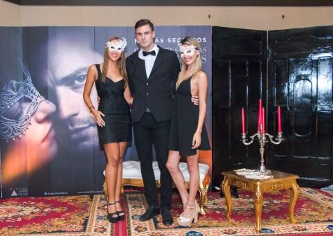 Nicole Gonzáles, Andrew Nugent (modelo) y Alejandra Hurtado