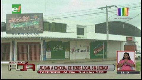 Acusan al concejal Porcel de tener un local sin licencia de funcionamiento