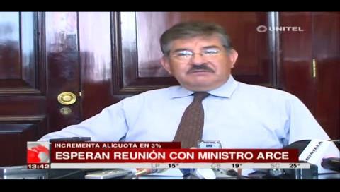 Asoban pide reunión con el ministro de Economía por el incremento de alícuotas