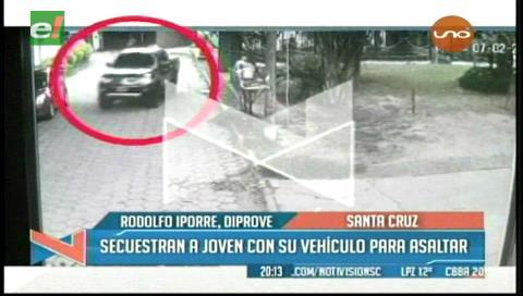 Delincuentes roban una camioneta, secuestran al conductor y cometen varios atracos en ella