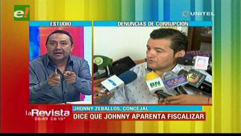 Concejal Zeballos: Johnny Fernández solo aparenta fiscalizar a la Alcaldía cruceña