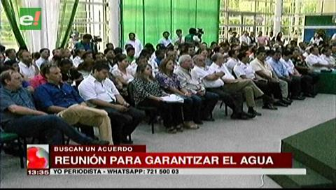 Rubén Costas encabeza construcción del Acuerdo por el Agua