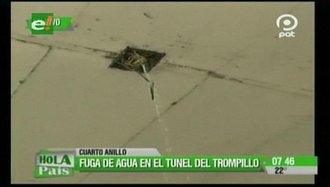 Preocupan filtraciones de agua en el túnel de El Trompillo