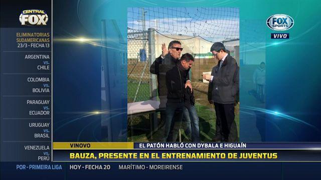 Bauza visitó a Higuaín y Dybala