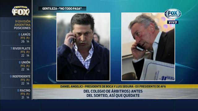 Fútbol argentino: El comprometedor audio entre Angelici y Segura