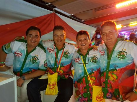Coco Rivero, Ernesto Justiniano, Marco Leigue y Roberto Rivero