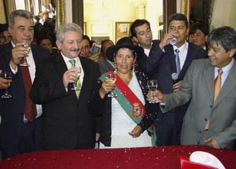 Fernández Costas, Cuellar, Suárez y Cossio en un acto público deL Conalde en 2009.