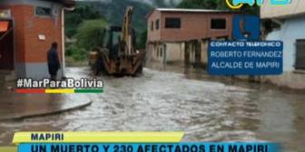 Desbordes de ríos en Mapiri dejaron un muerto y varios afectados