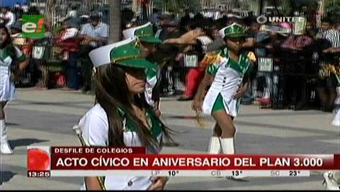 Santa Cruz: Civismo marca la celebración de los 34 años del Plan Tres Mil