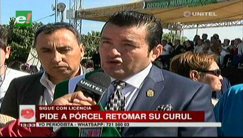 Johnny Fernández pide a Pórcel volver al trabajo y ya no ampliar su licencia