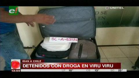 Detienen a tres personas con cocaína en el aeropuerto Viru Viru