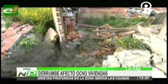 Derrumbes en Alpacoma afectó a varias viviendas