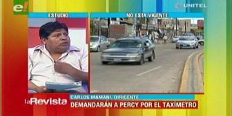 Taxistas anuncian querella contra Percy Fernández y once concejales por los taxímetros