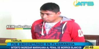 Tarija: Policía fue descubierto intentando introducir sustancias controladas a la cárcel