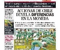Portadas de periódicos de Bolivia del lunes 27 de marzo de 2017