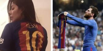 El regalo más sensual de Miss Bum Bum por los 500 goles de Messi