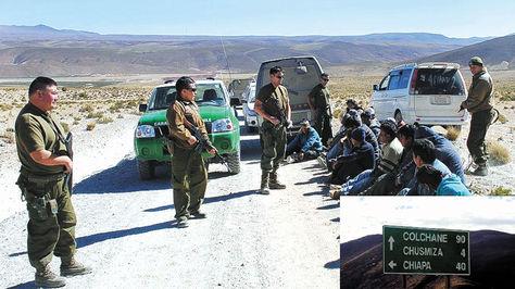 El 19 de marzo, los funcionarios de la Aduana y dos militares bolivianos fueron detenidos por Carabineros de Chile en la frontera binacional.