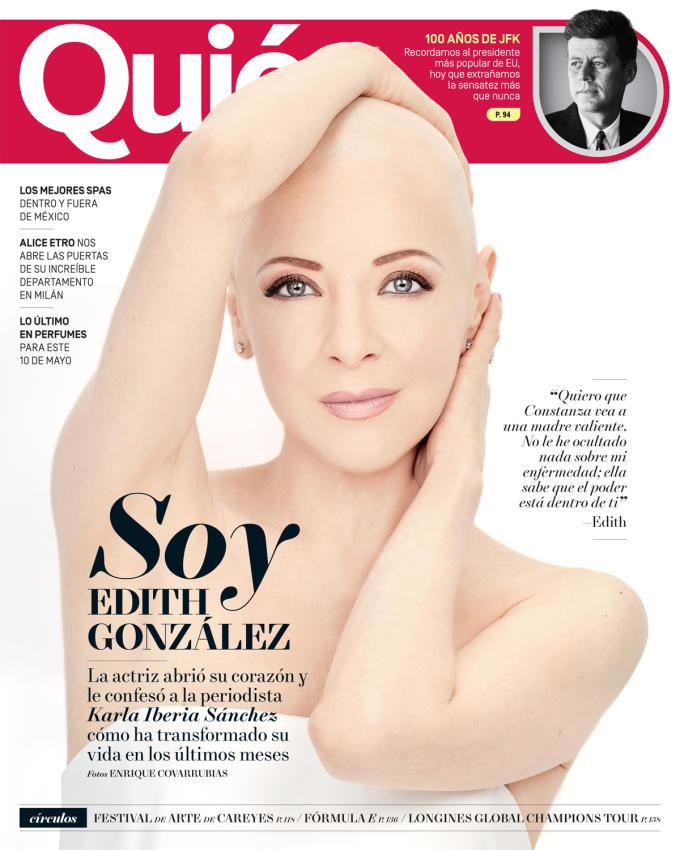 Edith González se muestra al natural