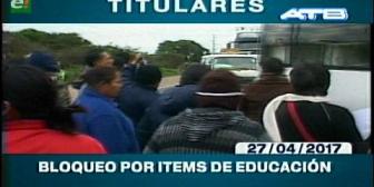 Video titulares de noticias de TV – Bolivia, mediodía del jueves 27 de abril de 2017