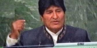 Evo dice en la ONU que Bolivia es ejemplo de lo que se puede hacer a escala global