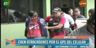 Caen dos atracadores por el GPS del celular robado a su víctima