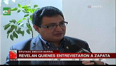Diputado Barral descalifica el comunicado Bolivia Tv sobre entrevista a Zapata