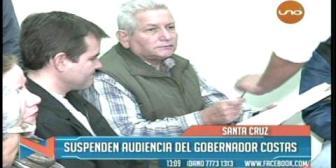 Suspenden audiencia del gobernador Costas por la compra de camionetas
