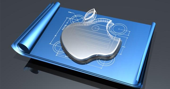 Logotipo de Apple sobre fondo azul
