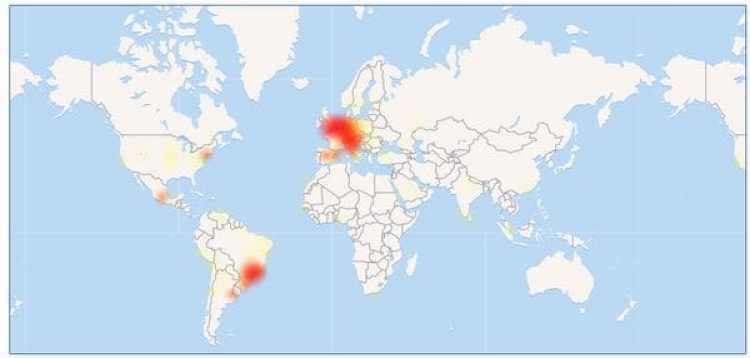En rojo los países que reportaron más inconvenientes
