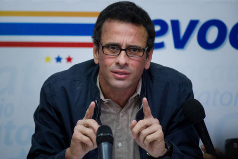 El líder de la oposición venezonlana, Henrique Capriles. Foto: Archivo EFE