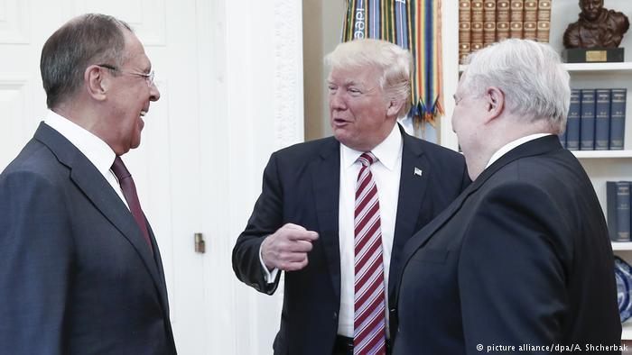 USA Treffen zwischen Trump und Lavrov (picture alliance/dpa/A. Shcherbak)