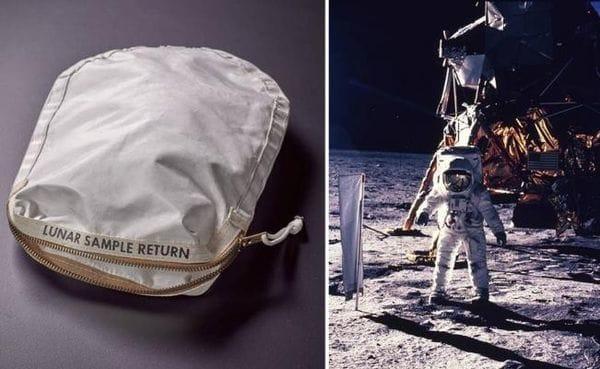 La bolsa utilizada por Neil Armstrong, el primer hombre que pisó la Luna (Reuters/AP)